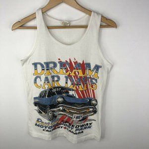 Vintage Fruit of the Loom Tank Top Mens Small Race City Speedway Calgary